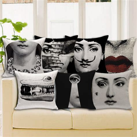 cuscini fornasetti retro vintage fornasetti decorative throw pillow home