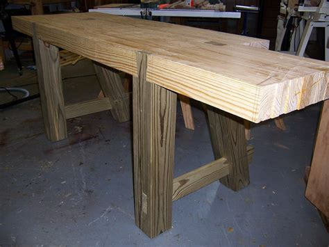 how to put legs on a bench making a roubo workbench part 3 finewoodworking