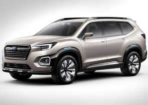 Subaru Crossovers 2018 Subaru 3 Row Crossover Suv Release Date And Price