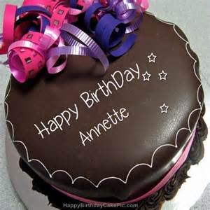 Happy birthday chocolate cake for annette