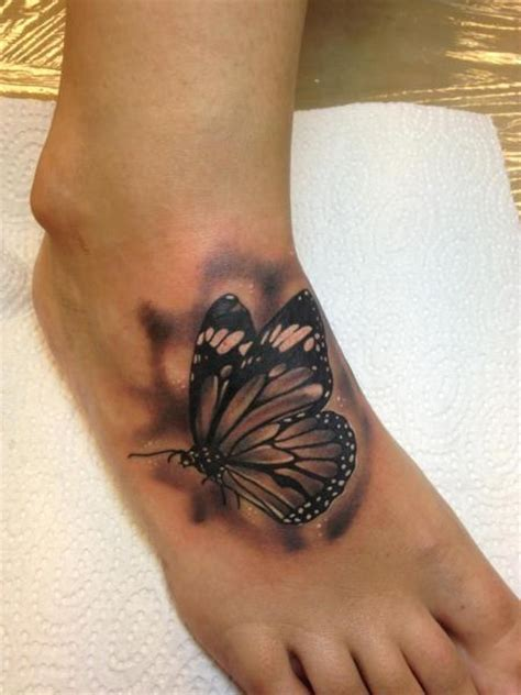 tattoo butterfly realistic realistic foot butterfly tattoo by bloody ink