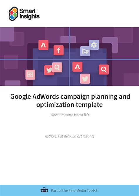 Google Adwords Caign Planning And Optimization Template Smart Insights Adwords Strategy Template