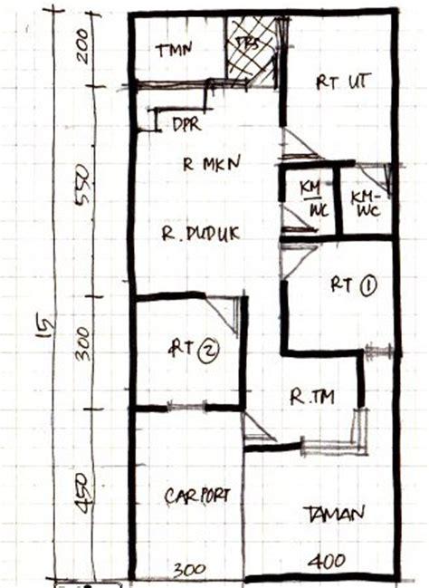 rumah minimalis 1 lantai 7x15 meter desain denah rumah the knownledge