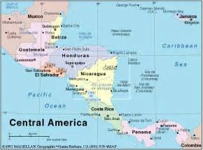 Central America Map El Salvador by El Salvador Trip Report