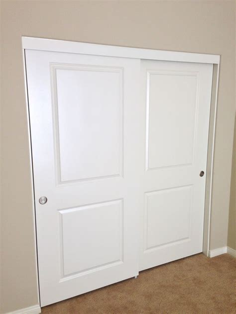 Sliding Bypass Closet Doors 17 Best Images About 2 Panel 2 Track Molded Panel Sliding Closet Doors On Wheels