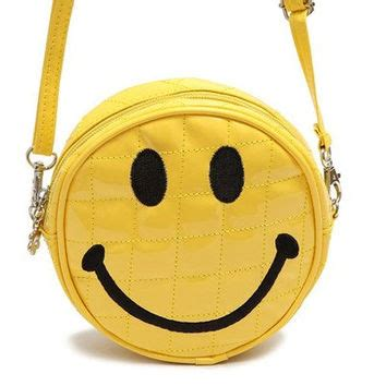 Smile Shoulder Bag 90s smiley shoulder bag crossbody from yoyobananana