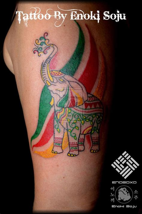 rastafarian tattoos best 25 indian elephant tattoos ideas on