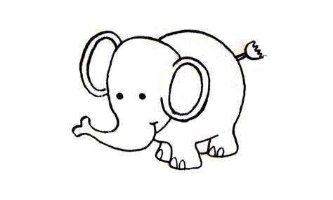 imagenes de elefantes faciles para dibujar dibujos a l 225 piz f 225 ciles motivos infantiles sencillos