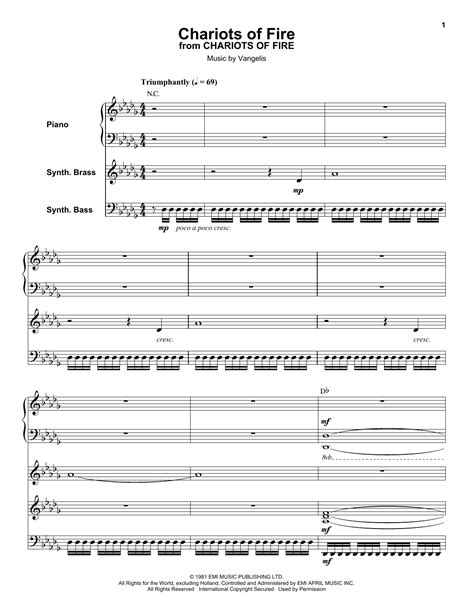 theme song chariots of fire vangelis chariots of fire sheet music