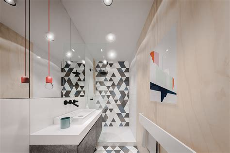 orange and black bathroom small home designs under 50 square meters