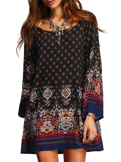 Tribal Boho Oby Dress 1 tribal pattern ethnic print dress new arrivals 2016 dresses clothing 2016