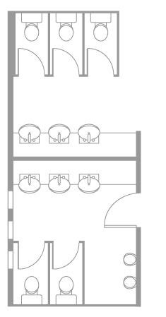 offices toilet layout cerca con google disegni public bathroom layout dimensions in meters google
