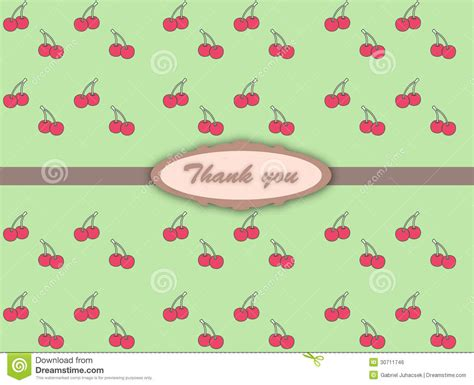 pattern of thank you card thank you card royalty free stock image image 30711746