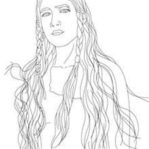 Native American Symbols Clothing Native Free Engine Sacagawea Coloring Page