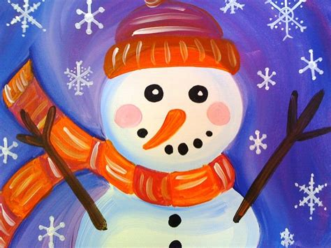 christmas paintings on canvas