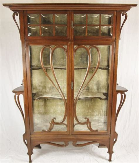 Art Nouveau China Cabinet 205934 Sellingantiques Co Uk