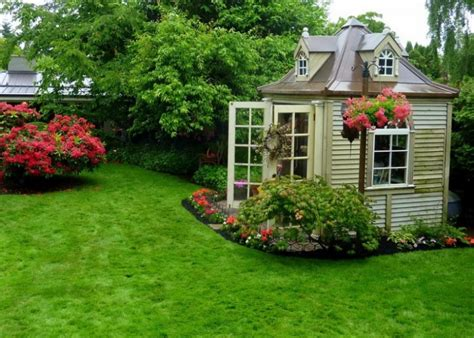Backyard Landscaping Design Ideas Charming Cottages And Sheds Small Garden Shed Ideas