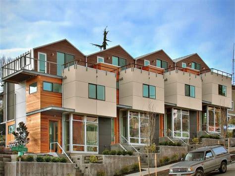 Fourplex Plans denny rowhouses modern green seattle architects david