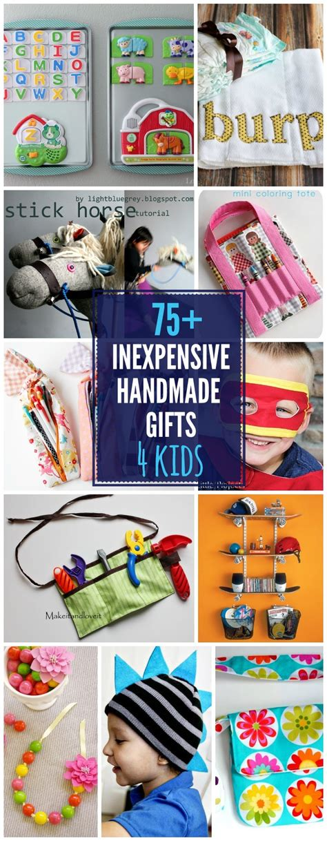Handmade Gifts For Toddlers - inexpensive gift ideas