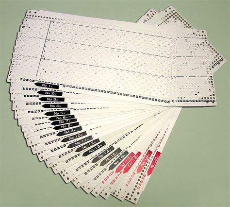 knitting machine punch card templates pre punched card set for knitting machine kh868 ebay