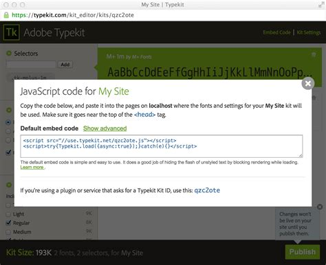 blogger embed code the typekit blog new embed code for asynchronous font