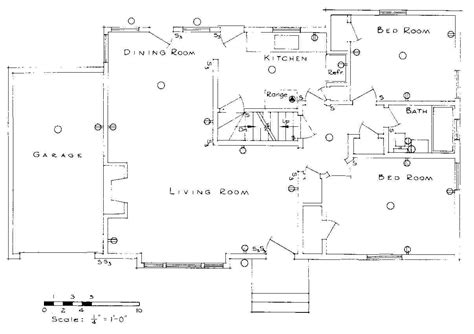 floor plan with electrical symbols conduit floor plan symbol