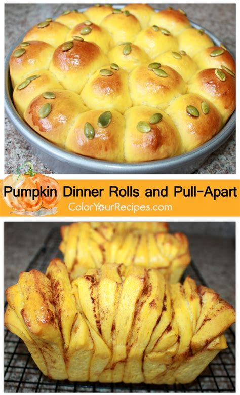 pumpkin dinner rolls and pull apart color your recipes