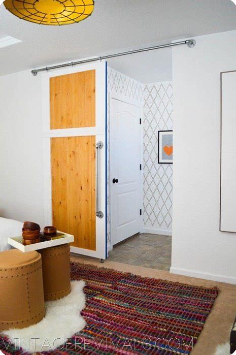 vintage revivals   build  simple sliding barn door