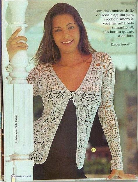 blusas de gancho tendencia en blusas tejidas en crochet con patrones imagui