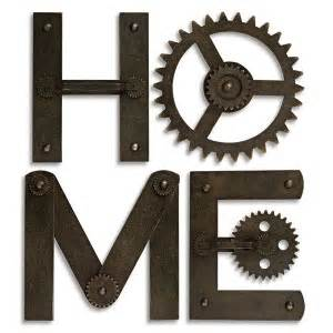 Metal Wall Letters Home Decor by New Metal Gear 11 Quot H Letters Wall Decor Spell Quot Home Quot Ebay