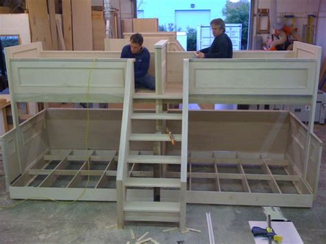 quad bunk beds pair of quad bunk beds page 2 finish carpentry