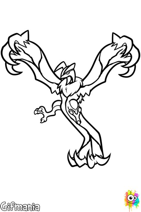 pokemon coloring pages yveltal pokemon yveltal coloring pages