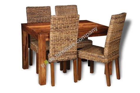 cube dining table and chairs cube dining table and 4 rattan chairs sheesham furniture