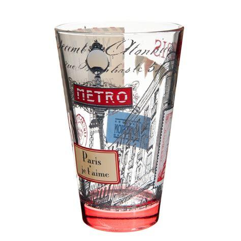 maison du monde bicchieri bicchiere rosso in vetro maisons du monde