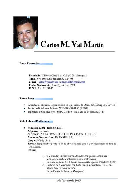 Modelo Curriculum Argentina 2015 Curriculum Profesional Actualizado 1 Feb 2015