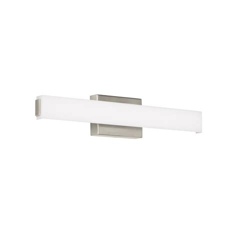 bathroom light wattage lbl lighting steele 24 bath 25 watt satin nickel integrated led bath light