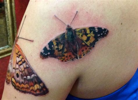 painted lady tattoo best 25 realistic butterfly ideas on
