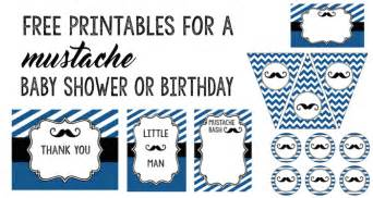 Free Mustache Baby Shower Invitation Templates by Mustache 10 Free Printables Paper Trail Design