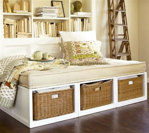 pottery barn stratton bed stratton storage daybed with baskets