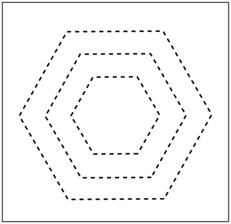 free printable hexagon template free printable quilting hexagon shape