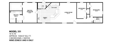 3 bedroom single wide mobile home floor plans 2 bedroom 1 bath single wide mobile home floor plans