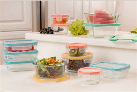 snapware containers snapware 10 total solution food storage set glass food savers kitchen dining