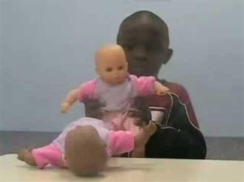 black doll experiment human experiment black doll white doll