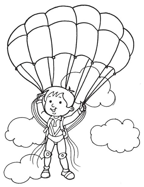 Paratrooper Coloring Pages Coloring Home Parachute Coloring Pages