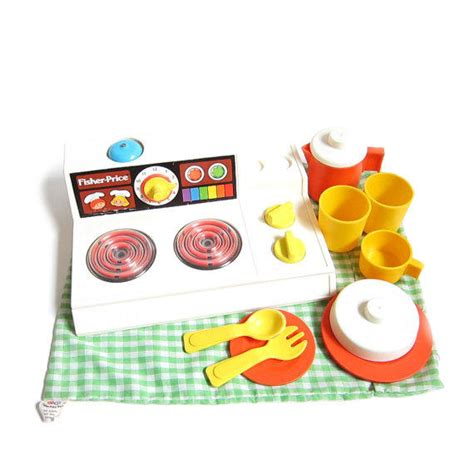 fisher price kitchen set vintage stove from brown eyed