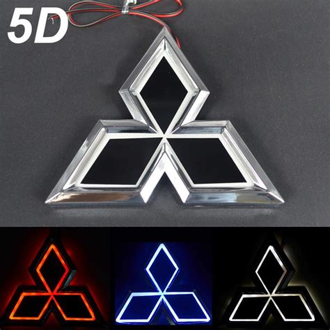mitsubishi badge new car 5d rear badge emblem logo light for