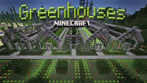awesome minecraft 15 how to build a greenhouse