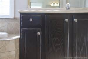 Painting Vs Staining Kitchen Cabinets by Remodelaholic Diy Refinished And Painted Cabinet Reviews