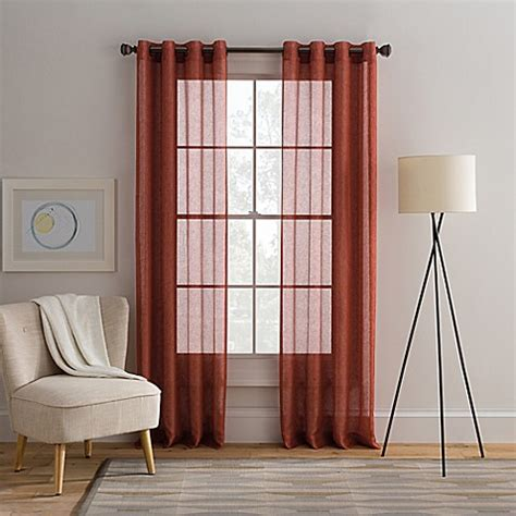 cambria curtains cambria 174 alix grommet top sheer window curtain panel bed