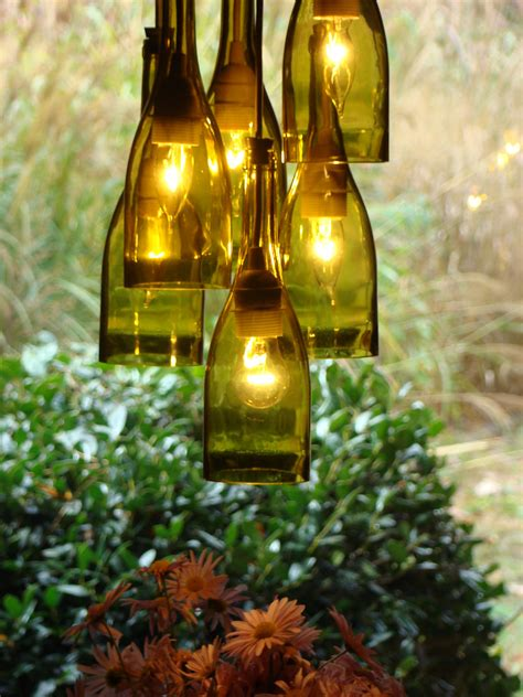 Diy Bottle Chandelier Wine Bottle Chandelier By Glow828 On Etsy